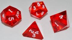 """""""Jumbo"""" Poly Set - Translucent Ruby w/White Ink (4)"""