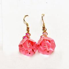 Dangle Earrings 16mm d12 Translucent Mystic Blossom (2)