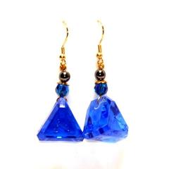 Dangle Earrings 16mm d5 Translucent Arcane Sapphire (2)