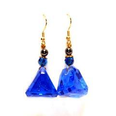 Dangle Earrings 16mm d5 Translucent Arcane Sapphire (2)