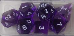 Poly Set - Amethyst w/White Ink (7)