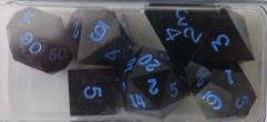 Poly Set - Black w/Blue Ink (7)