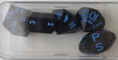 Black Zocchi Set w/Blue Ink (5)