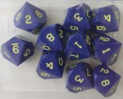 D10 - Blue w/Gold Ink (10)