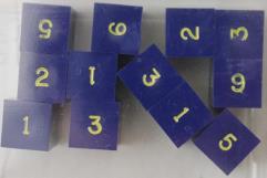 d6 Blue w/Gold Ink (12)