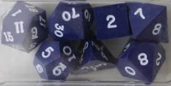 Poly Set - Blue w/White Ink (7)