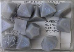 Full Poly Set Translucent Blue Opal (12) (Plain)