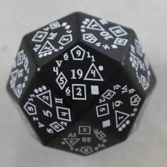 D24 D-Total - Black w/White Numbers
