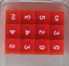 d6 Laser Red w/White Ink (12)