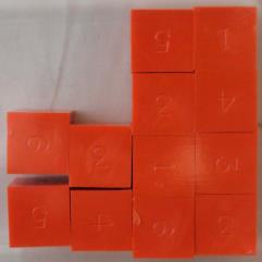 d6 Orange (12) (Plain)