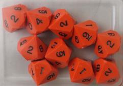 D10 - Orange w/Black Ink (10)