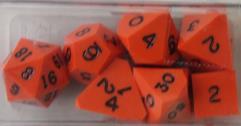 Poly Set - Orange w/Black Ink (7)
