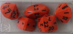 Orange Zocchi Set w/Black Ink (5)