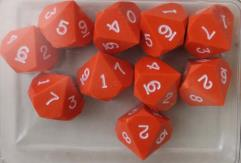 d10 - Orange w/White Ink (10)