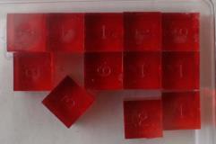 D6 Ruby (12) (Plain)