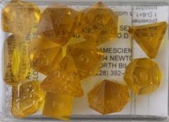 Full Poly Set Translucent Topaz (12) (Plain)