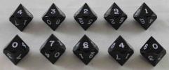 D10 - Black w/White Ink (10)