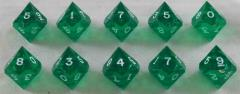 d10 - Emerald w/White Ink (10)