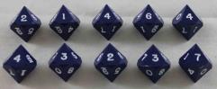 D10 - Blue w/White Ink (10)