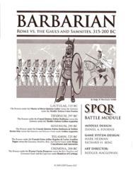 SPQR Battle Module - Barbarian