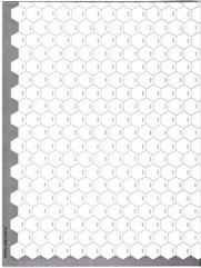 """Blank Hex Map - 23"""" x 34"""", 16mm Long Grain (2)"""
