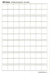 "Blank Counter Sheet 5/8"" (White)"
