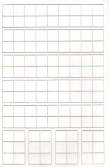 "Blank Counter Sheet 9/16"" (White) (10 Pack)"