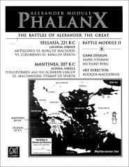Great Battles of Alexander Deluxe Module #2 - Phalanx (1st Edition)