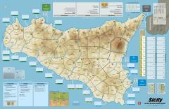 Sicily - Mounted Map