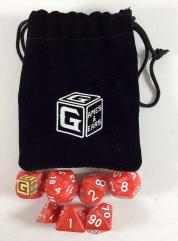 Heroic Red Dice Set w/Bag (7)