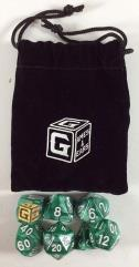 Heroic Green Dice Set w/Bag (7)