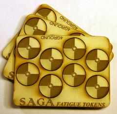 Fatigue Markers - Round Shields, MDF