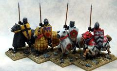 Crusading Knights - Mounted w/Great Helms & Lances Upright