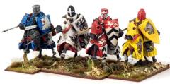 Crusading Knights - Mounted w/Great Helms a& Lances Couched