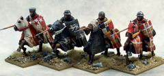 Crusading Knights - Mounted w/Open Helms & Lances Couched
