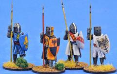 Crusading Foot Knights Standing w/Great Helms