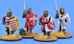 Crusading Foot Knights w/Great Helms - Advancing
