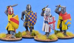 Crusading Foot Knights Attacking w/Great Helms