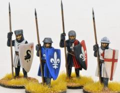 Crusading Foot Knights Standing w/Open Helms