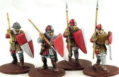 Frankish Foot Spearmen Advancing
