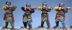Frankish Foot Crossbowmen Shooting