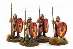 Late Roman Unarmored Infantry w/Helmets - Standing