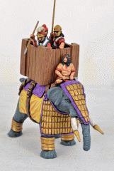 Successor Elephant w/Lamellar Armor, Wooden Howdah & Standing Crew