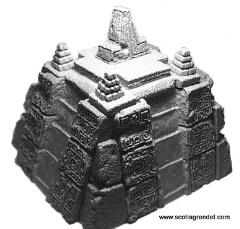 Ruined Aztec Temple