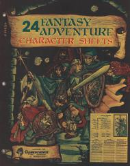 24 Fantasy Adventure Character Sheets