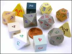 "Poly Starter Set - Opaque ""Ugly Dice"" (12)"