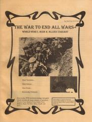 War to End All Wars, The (1st Edition)
