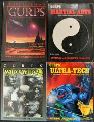 GURPS Starter Pack #1 - 4 Books! (1st-3rd Edition)