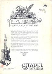 Arcane Listings