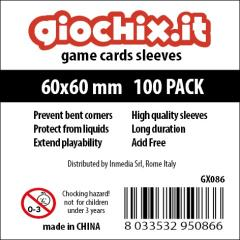60x60mm Transparent Card Sleeves (10 Packs of 100)